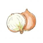 玉ねぎジャムのカナッペ