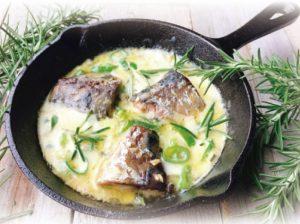 鯖缶のハーブチーズ焼き