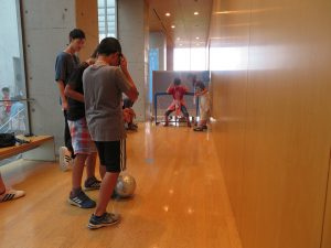 ブラインドサッカー(PK)体験