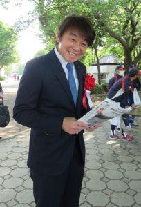 第8回 相模原市中部地区少年野球大会「ウイッツコミュニティ杯」 柴田社長